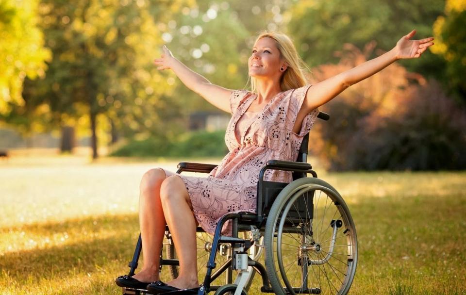 Cadeirante paisagem